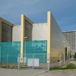Hoogspanningsstation in Rotterdam in bebouwde omgeving