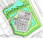 Inpassingsplan voor station Wateringen met onder meer een zichtwal en groen- en watervoorziening
