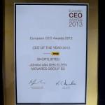 CEO award 2013