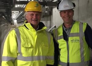 Safetywalk Pier Eringa (ProRail) en Johan van der Elzen (Movares)