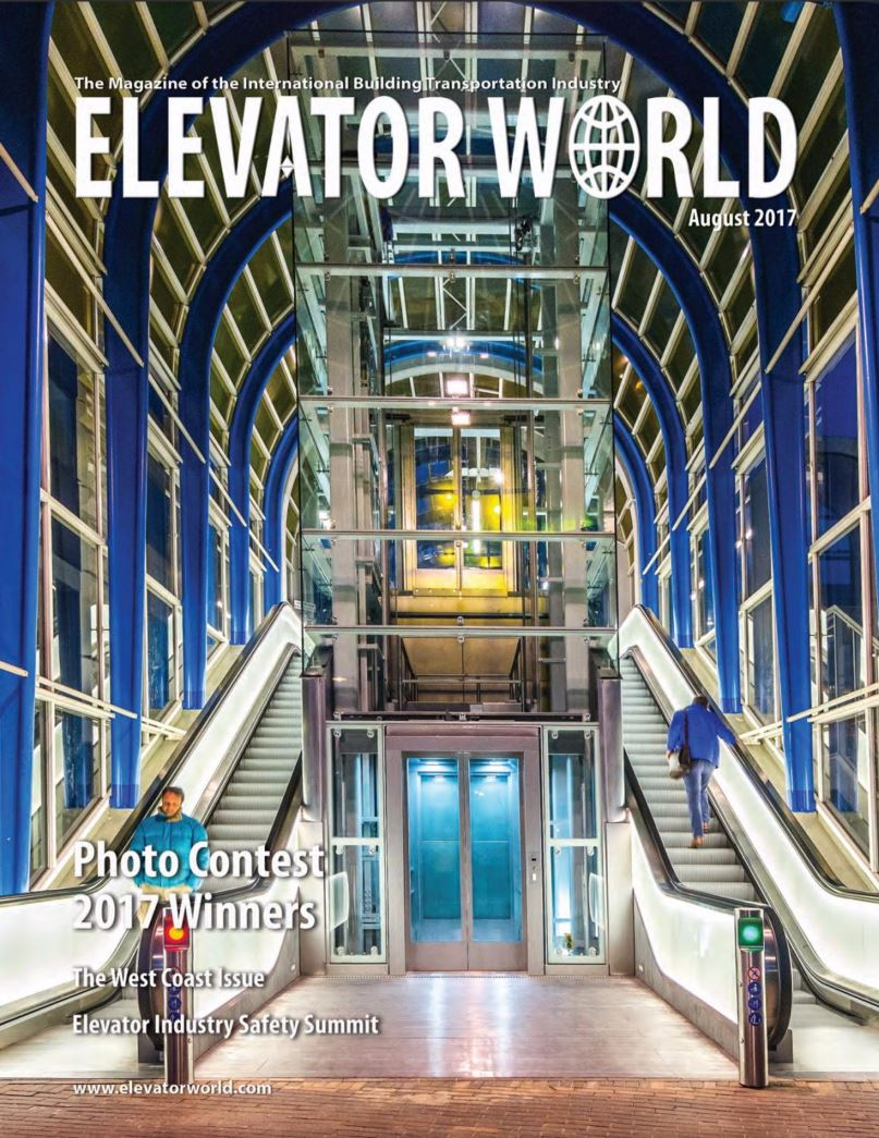 Elevator world - augustus 2017 - winnaar Movares